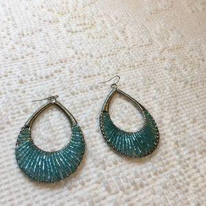 Oval Beaded Earrings